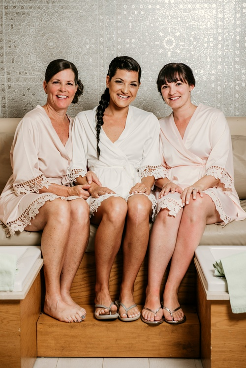 Bride with her Bridesmaids - Luxury Wedding Photography Uxbridge by Matt Tibbo