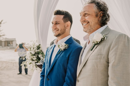 Groom with his Father - Wedding Photography Markham by Matt Tibbo