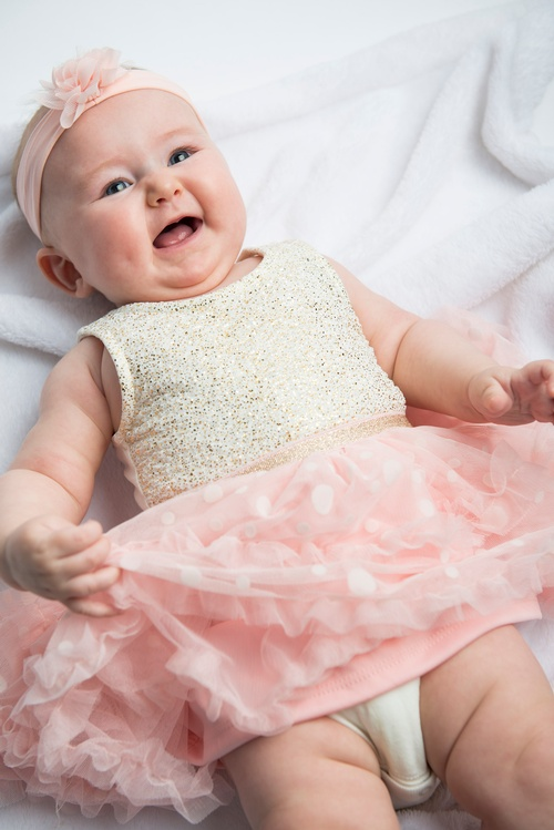 Adorable Baby Girl in Pink Frock - Baby Photography Milton by Matt Tibbo