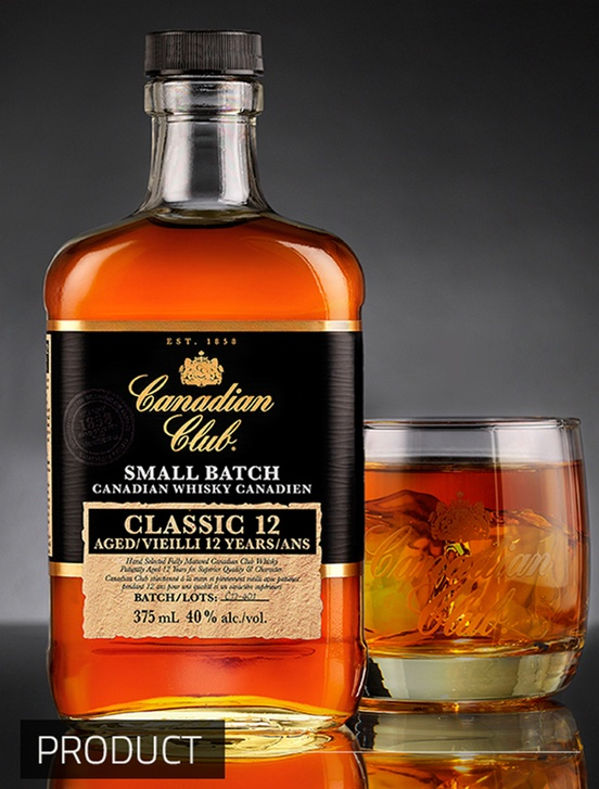 Canadian Club Classic 12 Year Old Whisky - Product Photography Toronto by Matt Tibbo