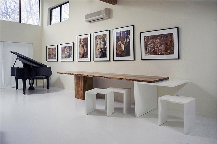 Bauhaus Table With Zebra Leg - Furniture Design New York by DDG Design Studio Inc