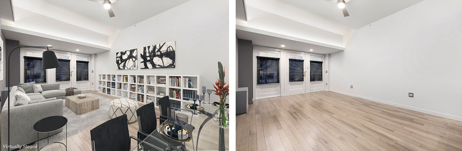 Before and After Home Staging Chelsea, New York by DDG Design Studio Inc