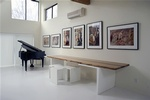 Solid zebra wood Table - Furniture Design Hamptons by DDG Design Studio Inc