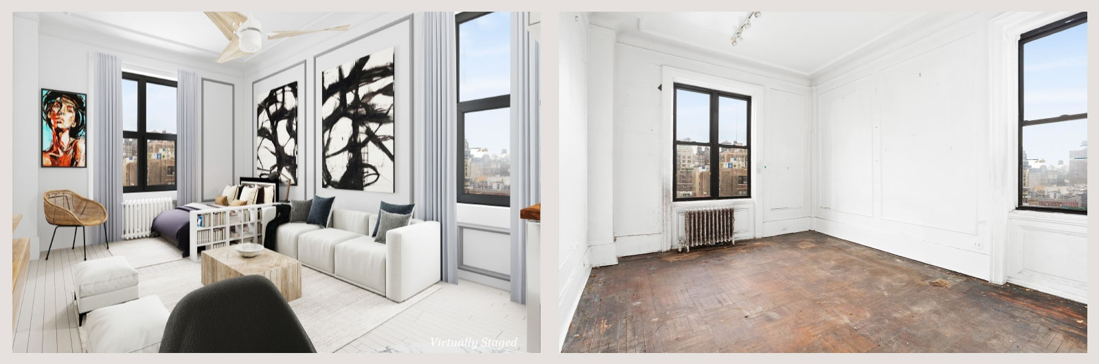 Before and After Home Staging Services Brooklyn by DDG Design Studio Inc