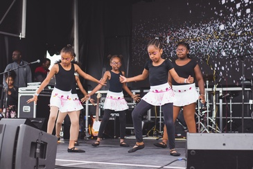 Children Performing at Durham Carifest - Caribbean Arts and Culture Festival