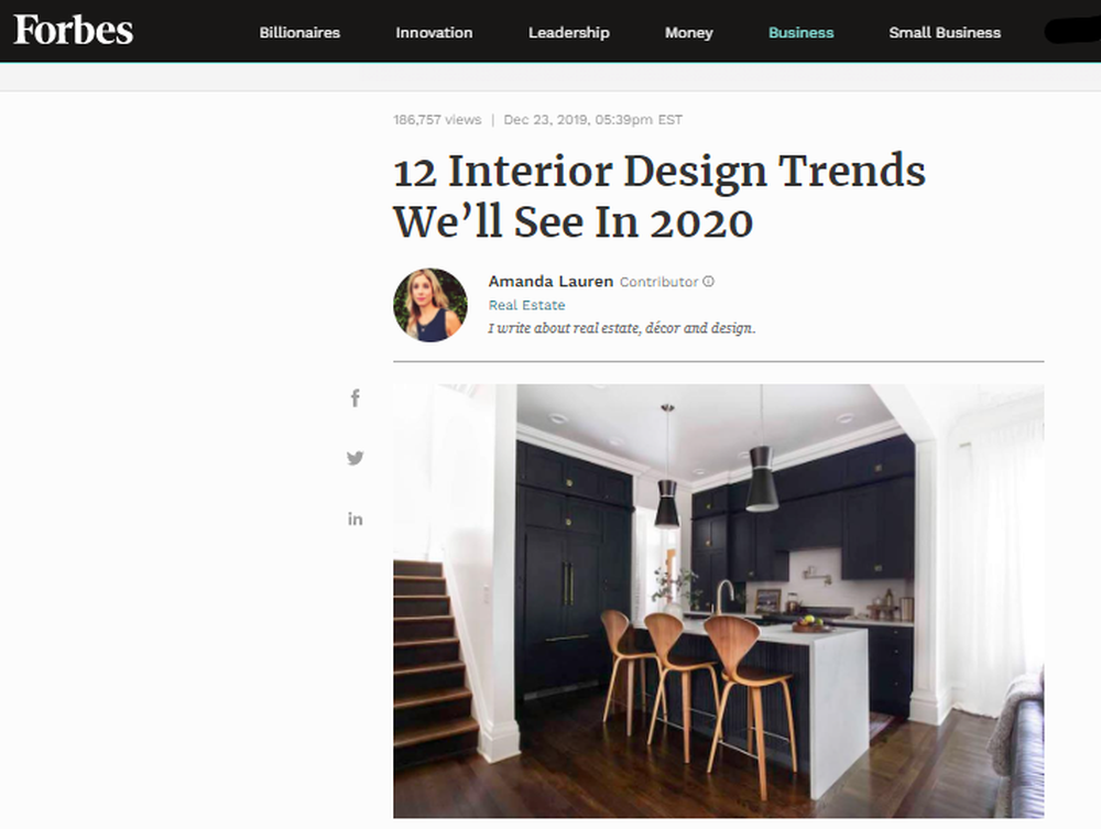 12 Interior Design Trends We'll See In 2020