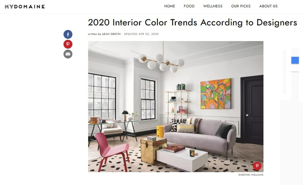 Interior Colour Trends In 2020