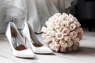 Bridal Bouquet and Shoes - Event Photography Services Seattle by OutSide Thinc