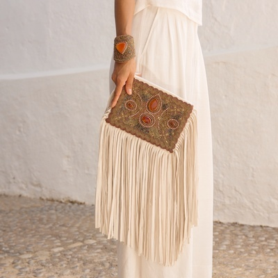 Lina Tassel Clutch Bag in Red - Buy Tassel Bags Online at Lakkota