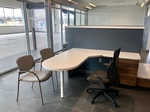 Private Office with White Solid Surface Desks