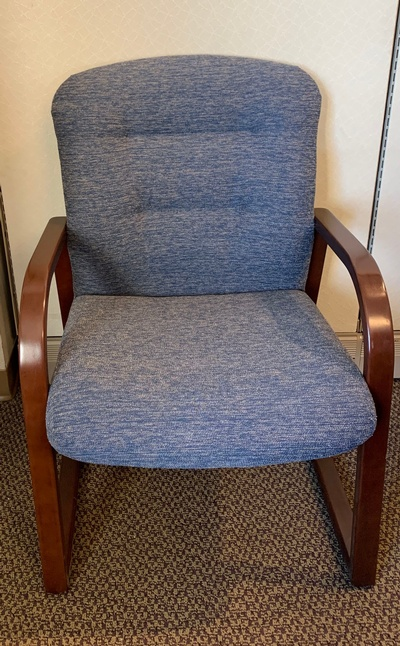 Used National Wood Frame Guest Chair with Arms