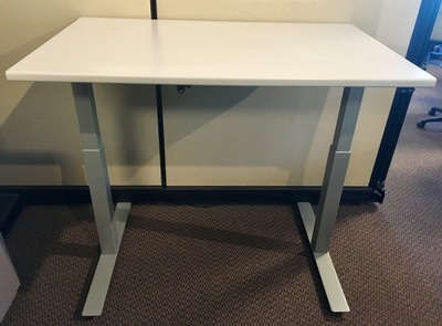 Electric Height Adjustable Base with Laminate Top
