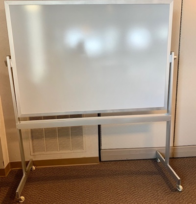 Used Double Sided Mobile Whiteboard