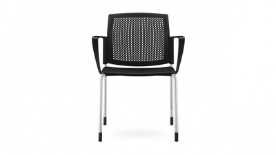 Carolina Lado Stack Chair with Arms - Plastic Seat and Back