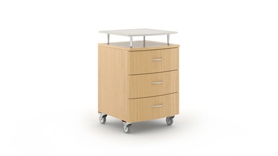 Carolina Senso Bedside Cabinet with Casters