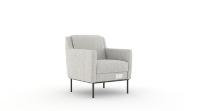 Carolina Dess Lounge Chair with Arms and Power