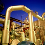 Golden Industrial Piping Photograph by Great Art Studios - Photography Services Irvine