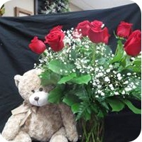 Red Roses in a Vase - Same Day Flower Delivery by Flowers by Terry