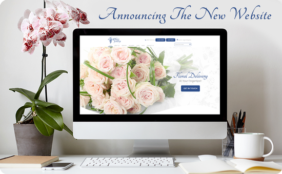 Announcing the new  website - Flowers by Terry