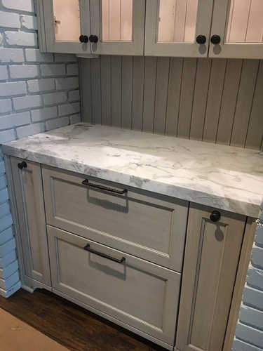 Classic Small Kitchen sliding Storage Compartments Interior Design Firm Fort Worth TX