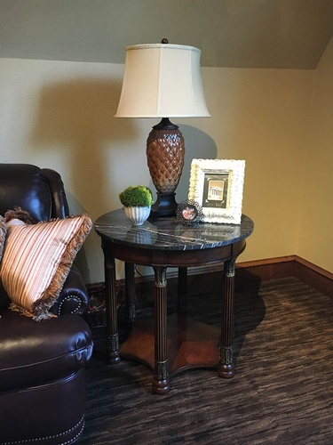 Side table with a Lamp - Interior Decorating Services Fort Worth by Valentine Interior Design