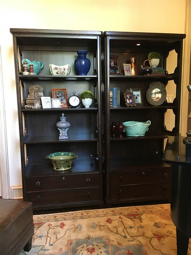Wall mounted wooden display Cabinet with Accessories - Denton County Interior Decoration