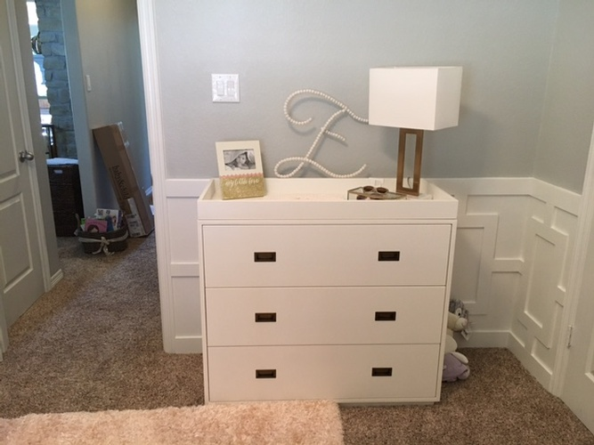 White Console Cabinet with Table Lamp - Interior Decorating Services Fort Worth by Valentine Interior Design