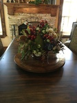 Large Dining table with fruit Centrepiece - Fort Worth Interior Decoration by Valentine Interior Design