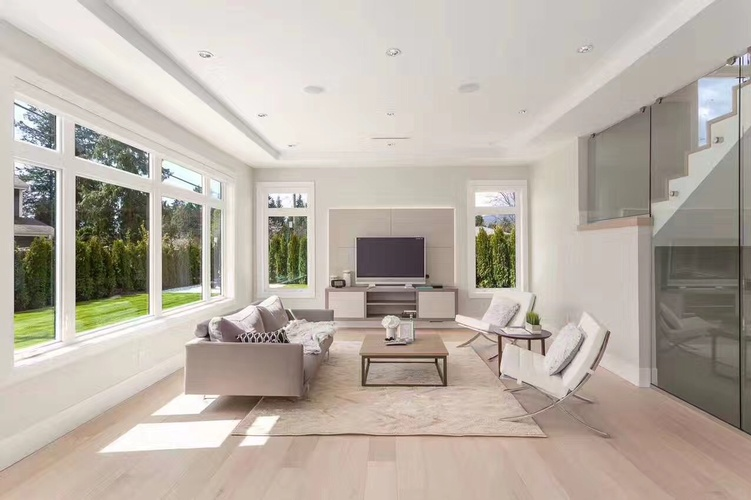 Luxury Living Room Flooring Installation Services Surrey by TJL Floor And Garage Door Inc