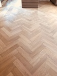 Chevron Flooring Installation by TJL Floor And Garage Door Inc Coquitlam