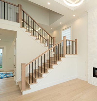Laminated Staircase by Flooring Contractor Richmond at TJL Floor And Garage Door Inc