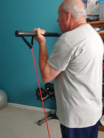 Elderly man doing Workout - In Home Personal Training Frederick County by Home Core Fitness