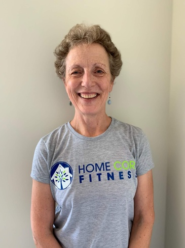 Elderly lady wearing Home Core Fitness Tshirt - Maryland In Home Personal Training