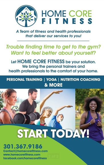 Home Core Fitness Brochure - Private Fitness Training New Market