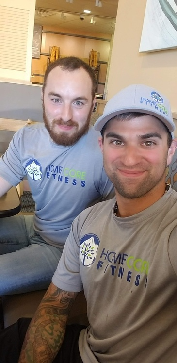Selfie with New Market In Home Personal Trainer at Home Core Fitness