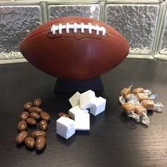 Life size chocolate football
