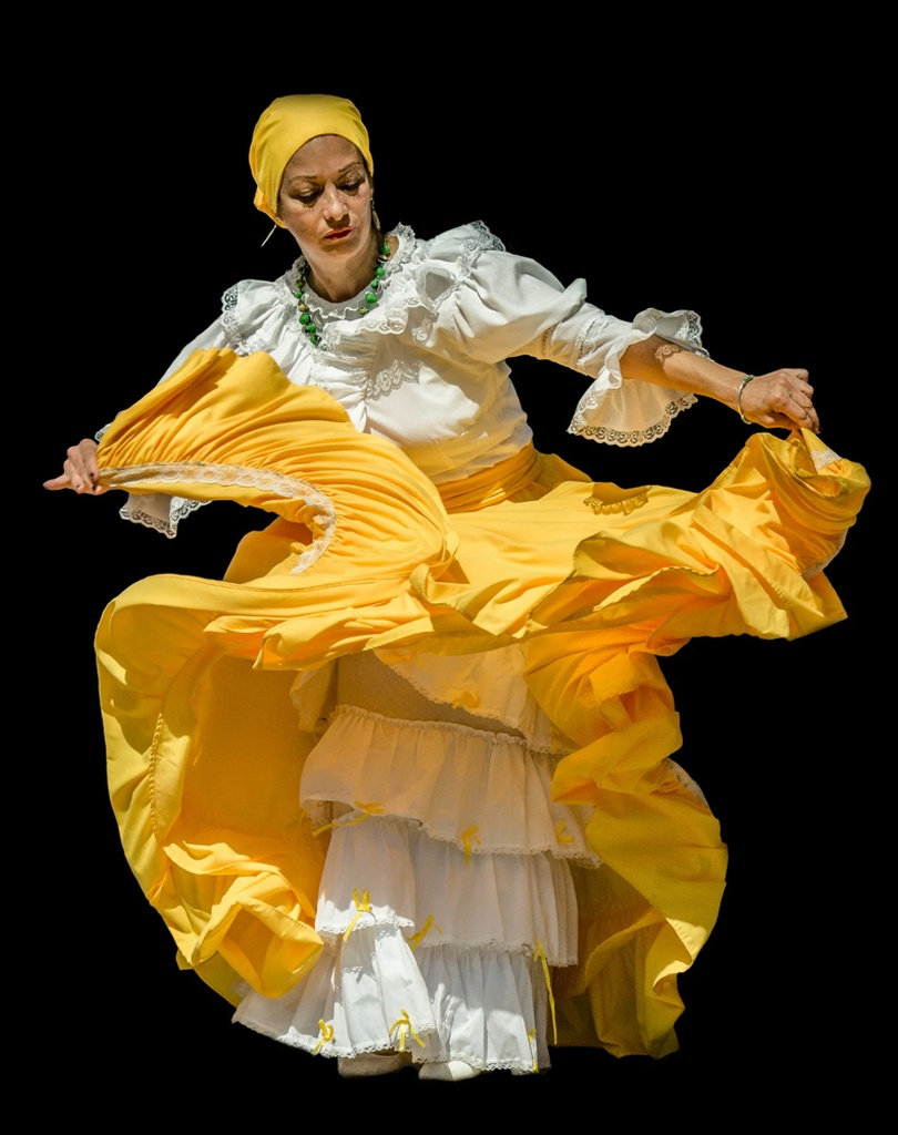 Woman Dancing in a Flared Dress - New Jersey Promotional Photography