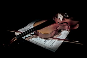 Violin on a Desk - Fine Art Photography Services New Jersey by Phillip Angelo