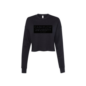 Women's Sponge Fleece Crew Neck Cropped Sweatshirt