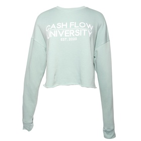 Women's Cropped Sweatshirt (Dusty Blue, Mauve)
