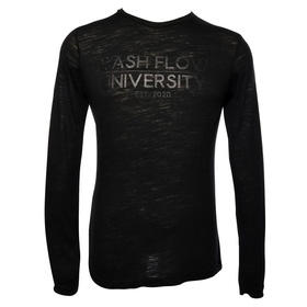 Classic Long Sleeve Crew Neck Shirt (Black, Denim)