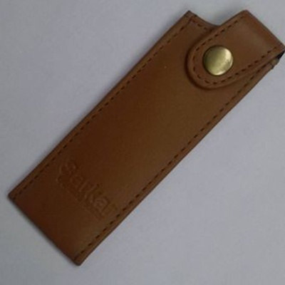 Leather Knife Protector or Sheath Mustard 8 inch at Internet Kitchen Supply Store Toronto