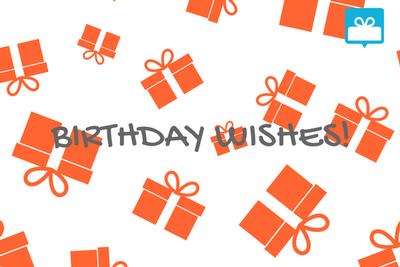 Prezz Birthday E Gift Card HAPPY BIRTHDAY