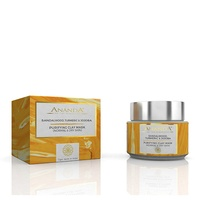 Ananda in the himalayas - Purifying Clay Mask - Sandalwood, Turmeric & Jojoba for Normal and Dry Skin