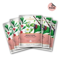 LuxaDerme - Brightening Bio Cellulose Face Sheet Mask (Pack Of 5)
