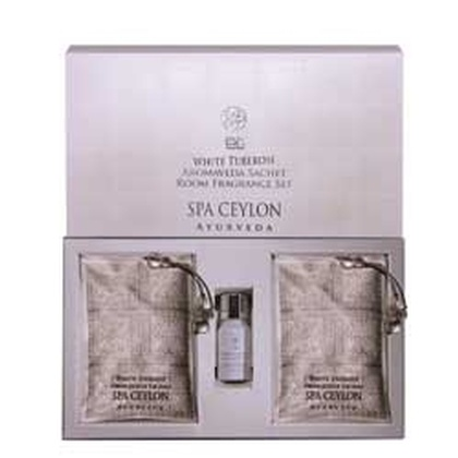 Spa ceylone - White Tuberose Aromaveda Sachet Room Fragrance Set