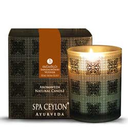 Spa ceylone - Sandal Vetiver Aromaveda Natural Candle