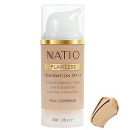 Natio - Flawless Foundation SPF 15 Medium Tan