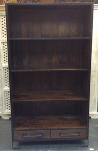 MORNINGSTAR - Bookshelf-Industrial Style-Rough Cut Finish -39w by 18d by 71h