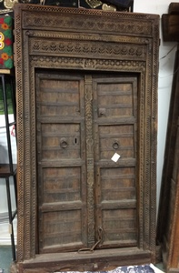 MORNINGSTAR - Door-Carved-Teak Wood-45 inch by 84 inch size